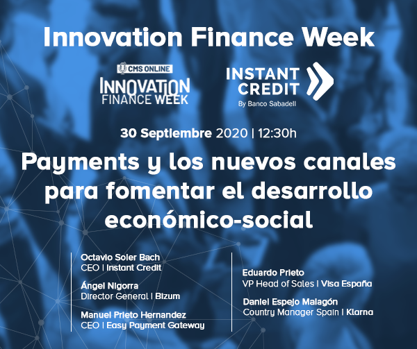 Instant Credit en Innovation Finance Forum